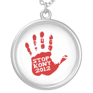 Kony 2012 Handprint Stop Joseph Kony Custom Necklace