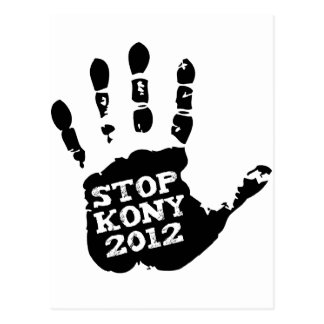 Kony 2012 Handprint Stop Joseph Kony Postcard