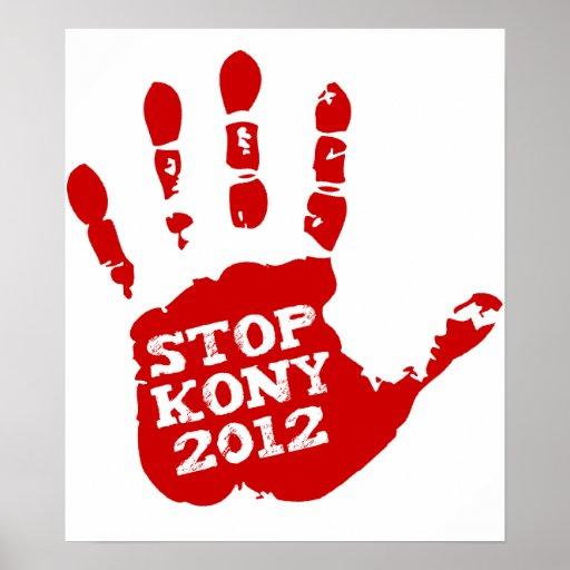 Kony 2012 Handprint Stop Joseph Kony Poster
