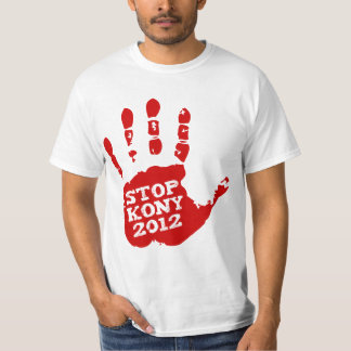 Kony 2012 Handprint Stop Joseph Kony Tee Shirt