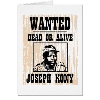 Kony 2012 Joseph Kony Wanted Poster Card