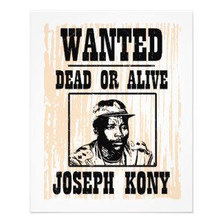 Kony 2012 Joseph Kony Wanted Poster Flyer