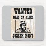 Kony 2012 Joseph Kony Wanted Poster Mouse Pad