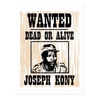 Kony 2012 Joseph Kony Wanted Poster Postcard