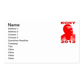 Kony 2012. Make Invisible Children Visible. Now. Business Card