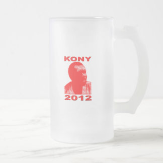 Kony 2012. Make Invisible Children Visible. Now. Frosted Glass Beer Mug
