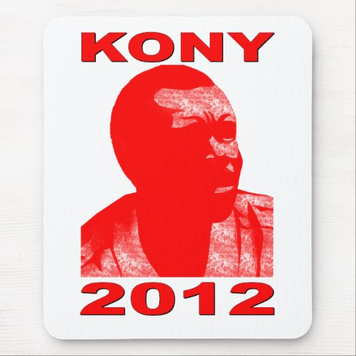 Kony 2012. Make Invisible Children Visible. Now. Mouse Pads