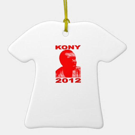 Kony 2012. Make Invisible Children Visible. Now. Double-Sided T-Shirt Ceramic Christmas Ornament