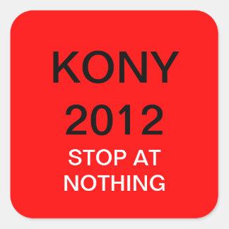 KONY 2012 PEGATINA CUADRADA