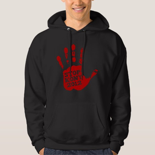 Kony 2012 Red Handprint Stop Joseph Kony Hoodie