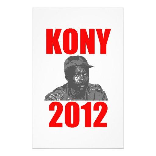 Kony 2012 Stop Joseph Kony Personalized Stationery