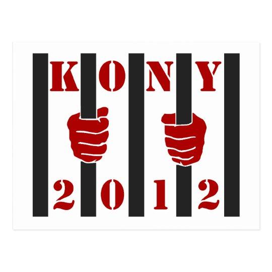 Kony 2012 Stop Joseph Kony Prison Postcard