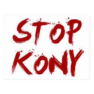 Kony 2012 Stop Red Bloody Joseph Kony Postcard