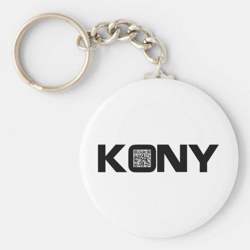 Kony 2012 Video QR Code Joseph Kony Keychain