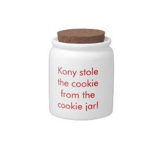 Kony Cookie Jar Candy Dish