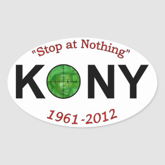 Kony Stop at Nothing 3x5 Sticker