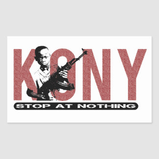 KONY - Stop at Nothing. Child Soldier Rectangular Sticker
