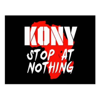 Kony Stop At Nothing Postcard