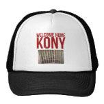 "Kony T-Shirt - Kony 2012 Tee ""Welcome Home"" Mesh Hat"