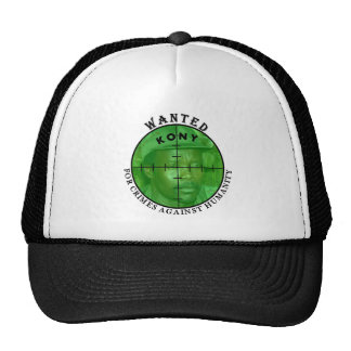 Kony Wanted: For Crimes Cap Trucker Hat