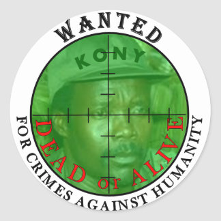 Kony Wanted: For Crimes DOA Stickers