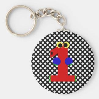 Kooblee 1 basic round button keychain