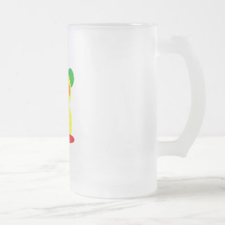 Kooblee 3 16 oz frosted glass beer mug