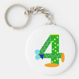 Kooblee 4 basic round button keychain