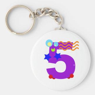 Kooblee 5 basic round button keychain