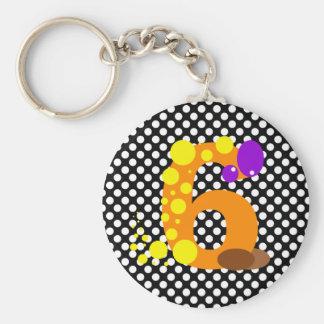 Kooblee 6 basic round button keychain