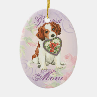 Kooiker Heart Mom Ceramic Ornament