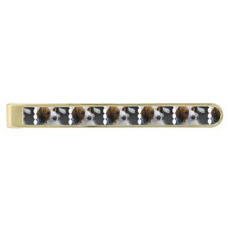 Kooikerhondje Dog Gold Finish Tie Clip