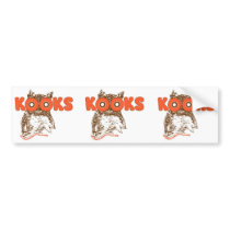 kook hoot owls bumper sticker