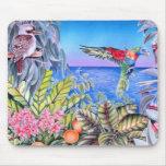 Kookaburra and Rainbow Lorikeets Mouse Pad