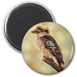 Kookaburra - Australian Bird Art 2 Inch Round Magnet