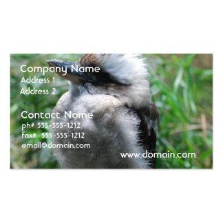 Kookaburra australiano tarjetas de visita