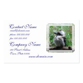 Kookaburra australiano tarjetas de negocios