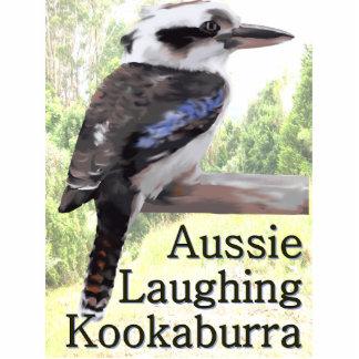 Kookaburra de risa australiano fotoescultura vertical