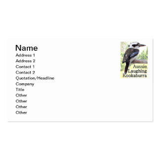 Kookaburra de risa australiano tarjetas de negocios
