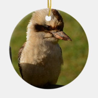kookaburra adorno redondo de cerámica