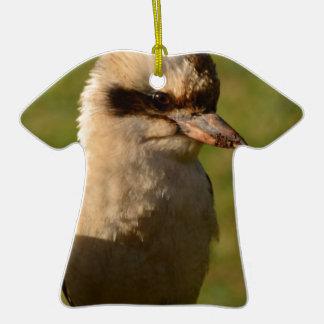 kookaburra adorno de cerámica en forma de playera