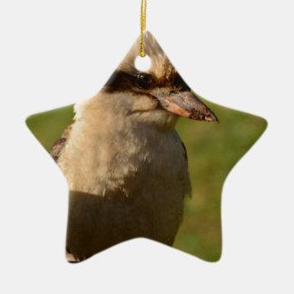 kookaburra adorno de cerámica en forma de estrella