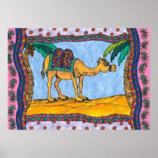Kooky Camel print print