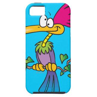 kooky crazy tropical exotic bird cartoon iPhone SE/5/5s case