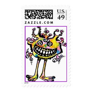 KookY Eyed Rainbow Freddy Sticky Stamp