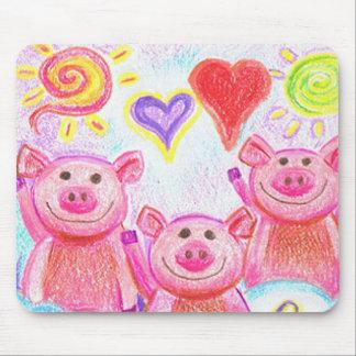 Kooky Friends Pig Mousepad