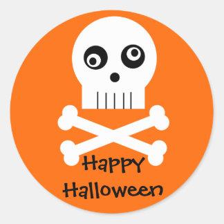Kooky Googley Eyed Skull Halloween Stickers