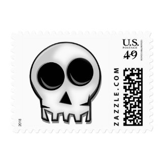 Kooky Kitsch Skull & Crossbones Stamp