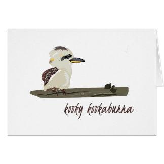 Kooky Kookaburra Greeting Card
