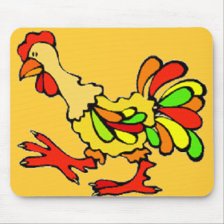 Kooky Rooster Mouse Pad